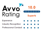 Rated a 10.0 Super Lawyer by Avvo.com