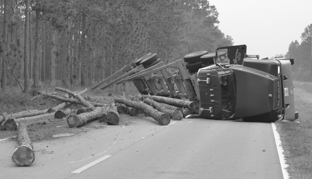 logging truck accident south carolina